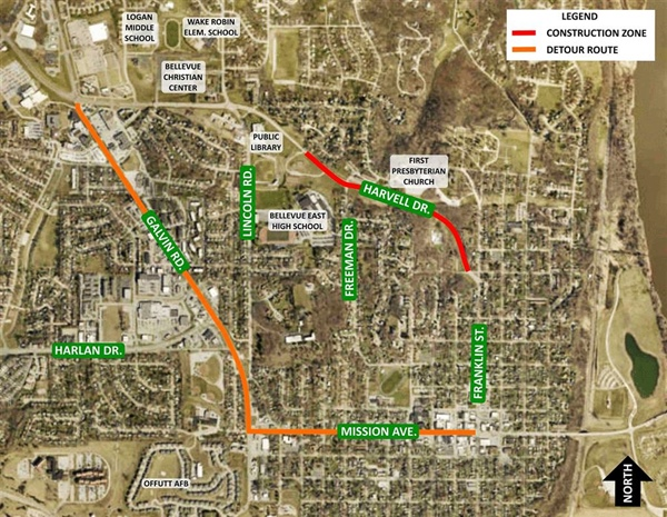Bellevue Public Works Department Announces Next Phase of Harvell Drive Project to Begin on Monday, November 7th