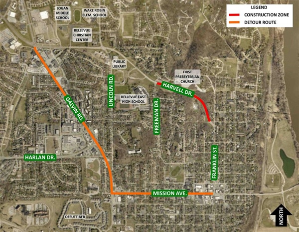 Construction of Final Section of Harvell Drive Improvement Project is Scheduled to Begin Monday, April 10th