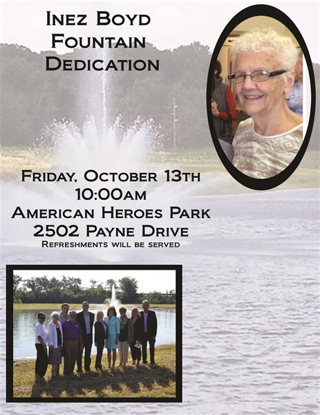 City of Bellevue to Host Fountain Dedication in Honor of the Service of Former Mayor Inez Boyd