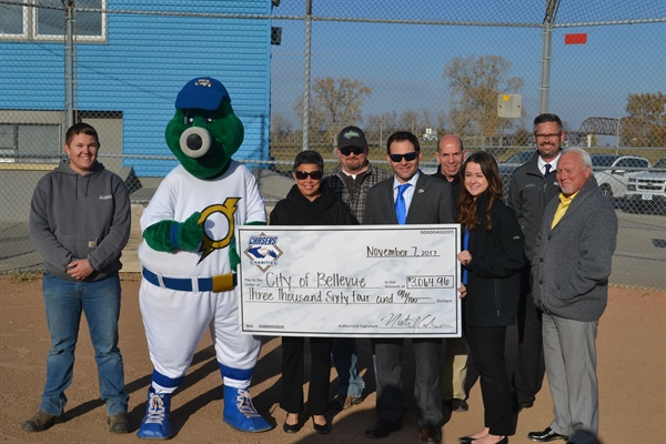 Bellevue Parks Department Receives Grant from Chasers Charities for Field Maintenance Equipment