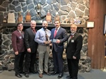 "Two Bellevue Police Officers Receive the Annual ""Blue Coat"" Award from the Bellevue Knights of Columbus"