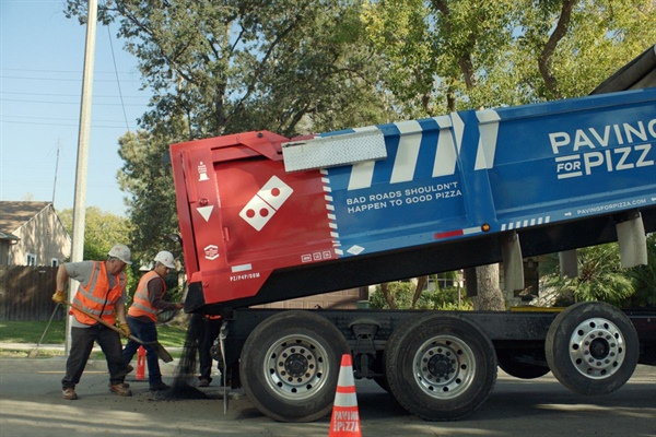 "Domino's will be ""Paving for Pizza"" in Bellevue"