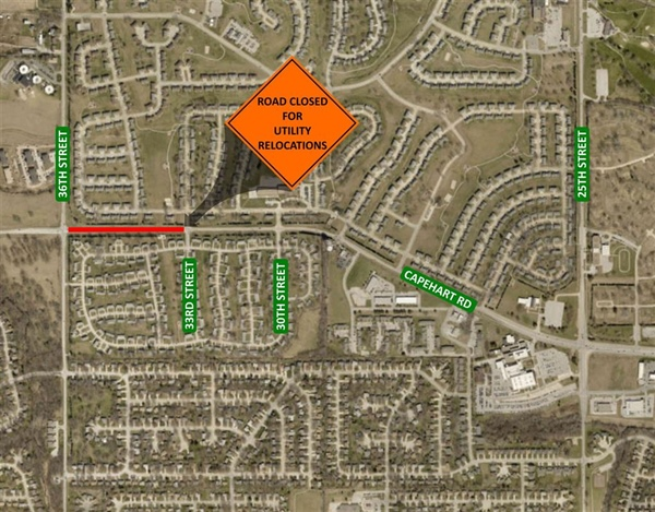Bellevue Public Works Department Announces Capehart Rd from 36th to 33rd St will be Closed Starting on Monday, October 21st