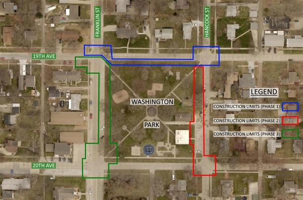 Construction In And Around Washington Park Will Take Place Over The Next Few Weeks